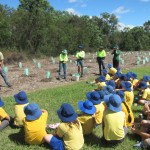 Getting a tree planting lesson